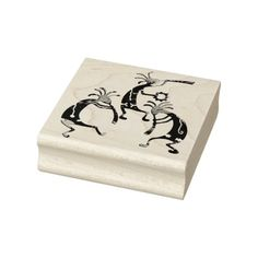 KOKOPELLI musician trio + your ideas - Rubber stamp for arts craft