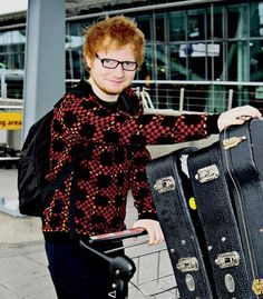 Ed Sheeran about to get on the Hogwarts express
