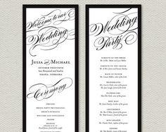 Elegant Calligraphy - Wedding Program - Printable DIY