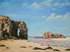 Chapel Rock Perranporth Beach Cornwall