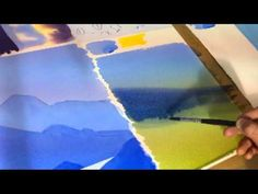 watercolour demonstration using three colours
