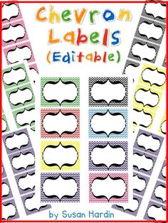 $ Chevron seems to be the CRAZE! So join in with the editable Chevron Labels. Use on the first day as Name Tags, title your students' folders, label your classroom library using this Chevron theme, or organize your closets and use these to label your containers. So many uses! www.3rdgradegrapevine.blogspot.com