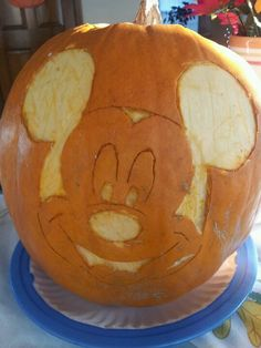 My Mickey mouse pumpkin!