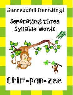 Separating Three Syllable Words! by Essential Reading- Language Skills