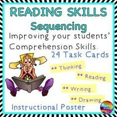 Grade / Year Level :: Primary Education :: Year 3 - 6 :: Reading Activity Comprehension Skills Sequencing Poster and Task Cards