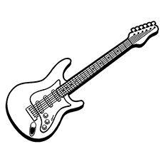 Top 25 Free Printable Guitar Coloring Pages Online Guitar Drawing Electric Guitar Guitar