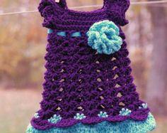 Purple Teal Newborn Dress Baby Girl Outfit Infant Plum Take Home Shower gift Photo prop Baptism Christening Easter Wedding Dedication