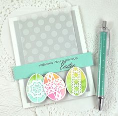 Joyous Easter Card by Dawn McVey for Papertrey Ink (February 2015)
