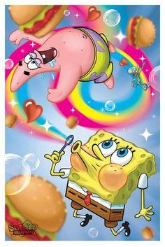 Spongebob Square Pants - Rainbow - Official Poster