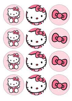Sabor de Fiesta : Kit imprimible GRATUITO de Hello Kitty.                                                                                                                                                      Más