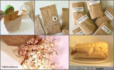 How to make popcorn in the microwave using a brown paper lunch bag - An easy way to have homemade popcorn with the convenience of the microwave! Paper Bag Popcorn, Popcorn Gift, Popcorn Bags, The Make, Make Your Own, Homemade Microwave Popcorn, How To Make Popcorn, Microwaves Uses, How To Make Homemade