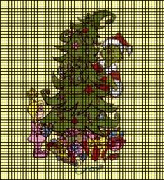 Grinch Christmas Tree Crochet Pattern
