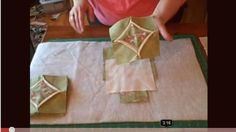 Simple Cathedral Window Quilt Block.