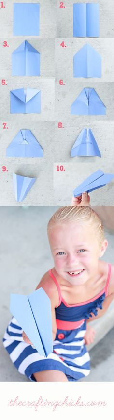 Super Ideas for origami for kids boys paper plane . - Origami for kids - Projects For Kids, Diy For Kids, Crafts For Kids, Craft Kids, Useful Origami, Origami Easy, Kids Origami, Basic Origami, Fun Crafts