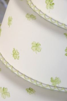 I love the four leaf clovers + add some chery blossoms to blend
