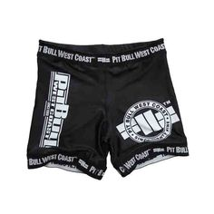 Pit Bull West Coast Vale Tudo Fight Shorts - Black  #streatwear #buy #pitbullsports #tee