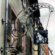 Wrought iron business signs Europe - Google Search