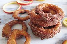 Recetas con manzanas: aros de manzana y canela