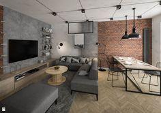 Condo Living, Home Living Room, Living Room Decor, Home Room Design, Dining Room Design, House Design, Luxury Modern Homes, Faux Brick Walls, Loft Room