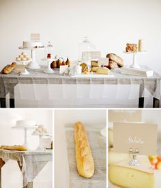 Cheesecloth as tablecloth♥ Photography spot: Karen Mordechai ♥ |