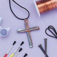 easter nail cross craft