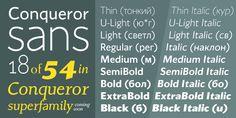 Conqueror Sans™ - Webfont & Desktop font « MyFonts