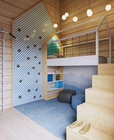 (^o^) Kiddo (^o^) Lofty ~ #детская в доме из бруса. Совместно со студией @forlife_designstudio. #интерьер #дизайн #дизайнинтерьера #интерьердетской #детскаякомната #рендер #виз #Визуализация #design #interiordesign #interior #kidsroom #nursery #render #viz #visualization