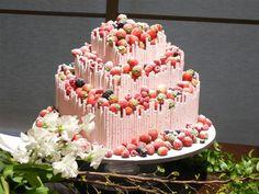 Wedding cake with pockey!