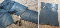 123 kleine Wunder: Kinderschürze aus einer alten Jeans