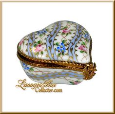 Classic Sevres Floral Heart Limoges Box