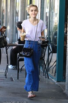 Grown up: Kiernan Shipka stepped out in on Tuesday in Los Angeles...