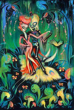 La Danse Macabre Molar by Camille Rose Garcia Camille Rose Garcia, La Danse Macabre, Dance Of Death, Lowbrow Art, Art Reproductions, Art Day, Dark Art, Les Oeuvres, Cute Art