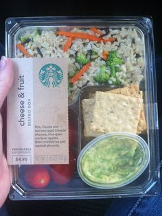 Use leftover Starbucks bistro box as a lunch or snack box to make your own version