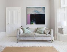 Toile imprimer, impression de peinture abstraite avec Marine, bleu, moderne toile impression par lola donoghue « Stormbreak »