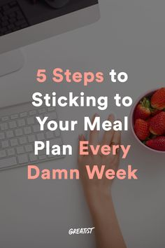 7 Ways I Stick to My Meal Plan Every Single Week #greatist https://greatist.com/eat/meal-prep-plan-tips