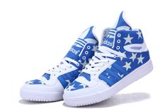 Jeremy Scott Big Tongue Shoes Blue White