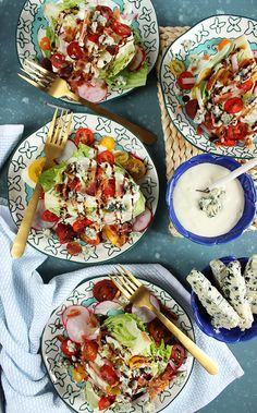 Loaded Iceberg Wedge Salad Recipe - The Suburban Soapbox blue cheese dressing pioneer woman - Woman Dresses Wedge Salad Recipes, Salad Recipes For Dinner, Dinner Salads, Iceberg Wedge Salad, Legal Seafood, Salad Toppings, Cheese Salad, Food Fails, Classic Salad