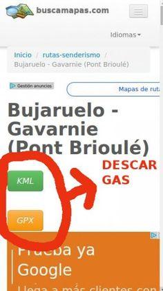 Descarga tracks GPS gratis en buscamapas.com