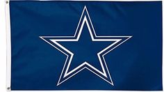 Dallas Cowboys Lone Star Logo Double Sided Indoor Outdoor Flag 3 x 5 Feet NEW #Unbranded #DallasCowboys