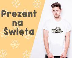 PREZENT NA ŚWIĘTA t-shirt męski koszulka z nadrukiem świątecznym DUŻY WYBÓR