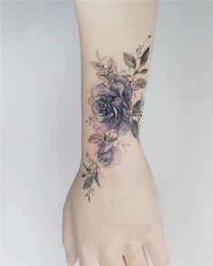 43 beautiful flower tattoos for women - 43 beautiful flower tattoos for women . - 43 beautiful flower tattoos for women – 43 beautiful flower tattoos for women Arm Tattoos Cute, Rose Tattoos On Wrist, Wrist Tattoos For Women, Tattoo Designs For Women, Body Art Tattoos, Small Tattoos, Sleeve Tattoos, Tatoos, Blue Rose Tattoos