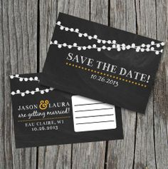 DIY Printable  Save the Date Postcard  Chalkboard by themunch, $15.00
