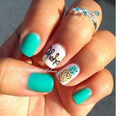 48 Summer Acrylic Coffin Nails Designs 2019 I like the teal with just the pineapple acrylic nail. Into pineapples for some reason. The post 48 Summer Acrylic Coffin Nails Designs 2019 appeared first on Summer Ideas. Fancy Nails, Love Nails, Trendy Nails, Diy Nails, Cute Nail Designs, Acrylic Nail Designs, Acrylic Nails, Pedicure Designs, Beachy Nail Designs