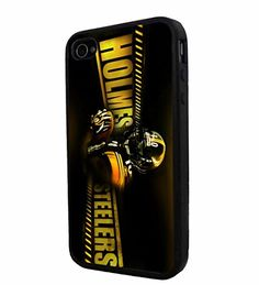 NFL Holmes Pittsburgh Steelers , Cool iPhone 4 / 4s Smartphone Case Cover Collector iphone TPU Rubber Case Black Phoneaholic http://www.amazon.com/dp/B00UAS1V1E/ref=cm_sw_r_pi_dp_kLKnvb108GP38