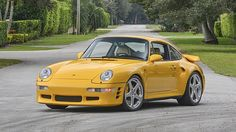 That was one of my favourite back than. 1997 Porsche Ruf 993 Turbo R presented as lot at Kissimmee, FL 2015 - Porsche 993, Porsche Cars, Porsche Classic, Cool Sports Cars, Sport Cars, Nice Cars, Ruf Automobile, Type E, Racing Seats