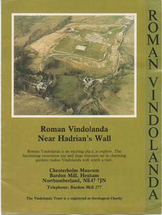 2 Brochures of Roman Fort Vindolanda, near Hadrian's Wall, Northumberland, England, fair shape, c1980s by VintageNEJunk on Etsy