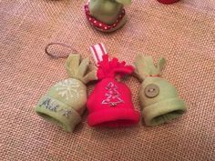 fleece mini stocking hat ornaments package toppers or garland, christmas decorations, seasonal holiday decor
