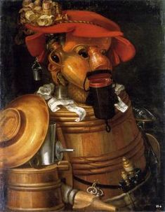 Global Gallery 'The Waiter: Winemaking' by Giuseppe Arcimboldo Framed Painting Print Size: Giuseppe Arcimboldo, Painting Frames, Painting Prints, Painting Styles, Art Magique, Catherine Of Alexandria, Images Vintage, Image Nature, Italian Painters