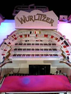 Blackpool, England - White Wurlitzer Organ at Blackpool Tower.  Reginald Dixon famous for playing this organ.
