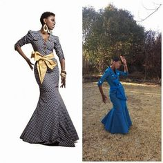 5 Photos of African Shweshwe Dresses African Fashion South African Fashion, African Fashion Designers, African Fashion Dresses, Ethnic Fashion, African Attire, African Dress, Wedding Dresses South Africa, Laura Dresses, African Princess